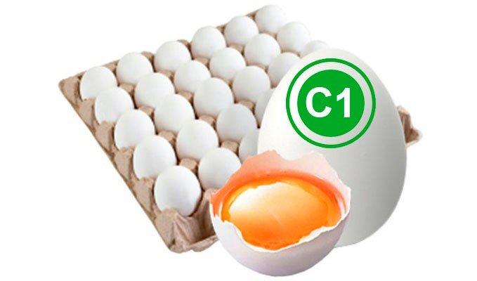 Яйцо куриное столовое 1 категория белое