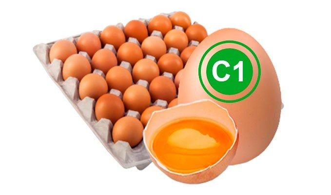 Яйцо куриное столовое 1 категория